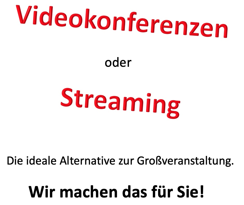 Videokonferenz Streaming Hybridkonferenz Webstream YouTube mieten Verleih